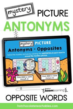 English Vocabulary Games, Grammar And Vocabulary, Opposite Words, Teacher Must Haves, Printable Board Games, Synonyms And Antonyms, Classroom Language, Word Pictures, Educational Games