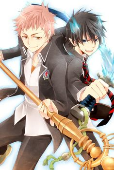 Shima Renzou and Okumura Rin my favorite boys from blue exorcist ❤️❤️