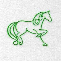 This free embroidery design is an art deco horse.  Cute!