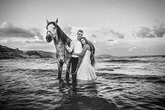 caballo, horse, mar, sea, boda, wedding,  www.alegriabodas.com Horses, Sea, Wedding, Animals, Weddings, Valentines Day Weddings, Animales, Animaux, The Ocean