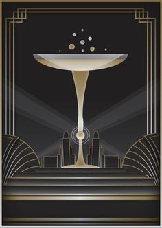 Art Deco Background and Frame Royalty Free Vector Image , Great Gatsby Theme, Gatsby Themed Party, 20s Party, Hallway Wall Decor, 1920s Art, Workspace Design, Inspiration Wall, Background Pictures, Best Part Of Me