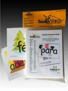 SnapWords® Spanish List 2 Teaching Cards