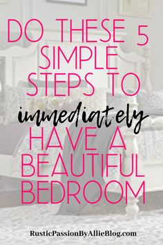Learn from these 10 tips to help you create an affordable cozy modern farmhouse master bedroom that you never want to leave. Farmhouse Style Bedrooms, Country Farmhouse Decor, Modern Farmhouse, How To Patch Drywall, Vinyl Floor Covering, Farmhouse Master Bedroom, Master Bedrooms, Kitchen Sink Design, Beautiful Bedrooms