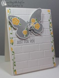 Stampin Up! Floral Wings in Yellow and Gray