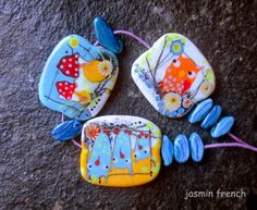 jasmin french ' country living ' lampwork tale by jasminfrench