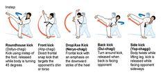 Taekwondo Kick Names