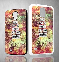 Inspirational Quote sparkle X1218 Samsung Galaxy S3 S4 S5 (Mini) S6 S6 Edge,Note 2 3 4, HTC One S X M7 M8 M9 Cases