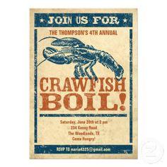 Crawfish Boil Invitations from Zazzle.com