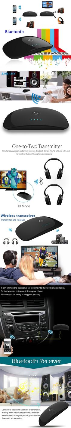 ANLUD Bluetooth Transmitter Receiver Wireless Stereo Audio Adapter A2DP Bluetooth For Car Earphone Headphone TV Computer Phone