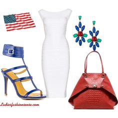 """""""Team USA"""" by www.ladiesfashionsense.com  #redwhiteandblue,#worldcup204,#fifaworldcup,#teamusa,#fourthofjuly,#americanwoman,#USA,#styleinspiration,#independenceday,#blueheels,#redhandbags,#redtote,#redpurse,#partyoutfiut,#july4th"""