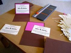 Pocketfold Invites by Just Two Crafty Sisters, via Flickr