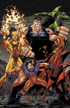 The Brotherhood of Evil Mutants by Adelso Corona. Colors by Ross Hughes