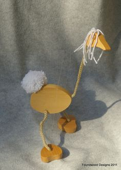 Wooden Toy -The Walking Bird Puppet, White - Easy to Use - Handmade - Recycled Wood - Ages 5 and Up Foundwood Designs on Etsy. $20.00, via Etsy.