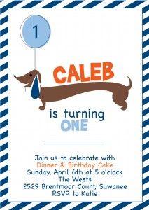 Dog party animal birthday invitation puppy pawty pinterest dachshund birthday party invitation yay for weenie dogs filmwisefo