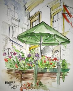 Times New Roman, Animation, Urban Sketching, Blur, Gazebo, Outdoor Structures, Sketches Of People, Places, Landscape