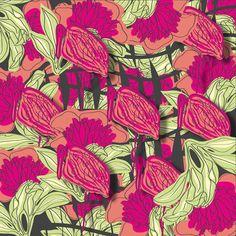 Garden Collection_ Flamingo Art Print  Piareiprints  For fabric print
