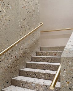 modern stair with gold handrail I Décor Aid