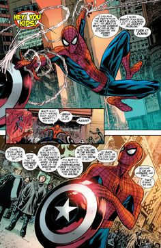 spiderman and captain america shield - Google Search-spidey rules, idk WHY NY hates him half the time