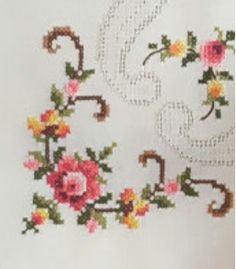 Wreaths, Embroidery, Bed Sheets, Crochet, Home Decor, Cross Stitch Embroidery, Herb, Dots, Flowers