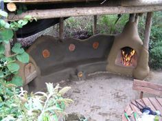 Rocket Stove outdoor seating