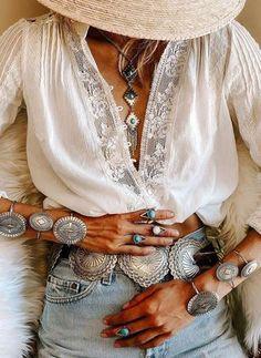Boho Chic, Bohemian Mode, Bohemian Gypsy, Top Fashion, Ethnic Fashion, Hippie Fashion, Bohemian Schick, Blouse Sexy, Bohemian Blouses