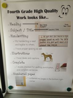 Class at SPARK Academy - TEAM Schools.  4th grade quality work poster :)