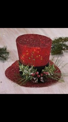 New Holiday Christmas Tree Topper Lighted Oversized Polyester Red Top Hat Christmas Tops, Christmas Swags, Christmas Hat, Outdoor Christmas Decorations, Christmas Centerpieces, Christmas Tree Toppers, Diy Christmas Ornaments, Diy Christmas Gifts, Xmas