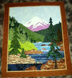 How To Create A Landscape Quilts | ... Painting on a Landscape Quilt from Quilts by Barb Quilt Retreats