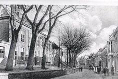 De Dijkstraat in Oud Den Helder ongeveer 1900. Hier woonden de rijke mensen in grote dure huizen. In deze straat stond ook het  gemeentehuis van Den Helder.