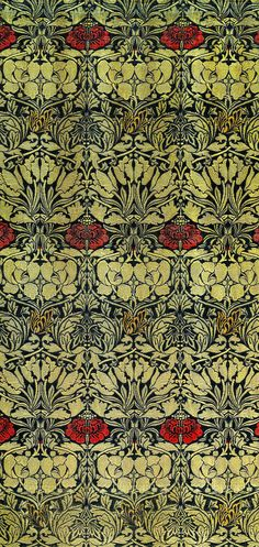 Woven Fabric: Tulip and Rose (1890) by William Morris. Original from The Birmingham Museum. Digitally enhanced by rawpixel. | free image by rawpixel.com William Morris Patterns, Birmingham Museum, Classical Art, Free Illustrations, Paper Background, Woven Fabric, Tulips, Art Nouveau, Pattern Design