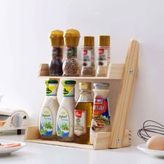 Buy the Tiered Wooden Spice Rack for your kitchen or bath. Find creative food storage solutions for your home or office at the Apollo Box marketplace.