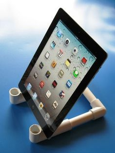PVC basic tablet holder... great job please Visit my site https://www.upcyclingbymilo.com/ for more products