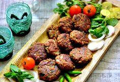 Kebabs are super delicious and delectable; also they are an integral part of Mughlai cuisine. Heres mutton shami kebab with mutton pieces boiled with Bengal gram and other whole spices and finally blended to form a sticky and fibrous dough mix and shallow fried. Recipe by Shaheen. #Ramadan   -->http://ift.tt/22TEQCP #Vegetarian #Recipes