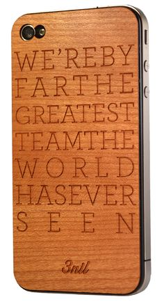By far the greatest team! Cherry wooden iPhone 4/4S cover from @threenildotcom. Custom made and handcrafted #in