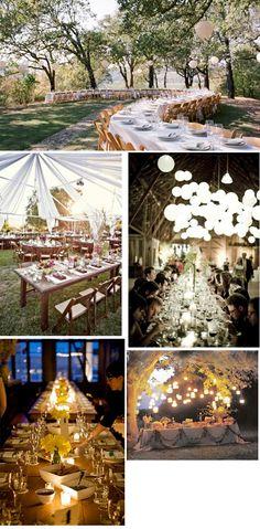 i <3 these table/lighting set ups