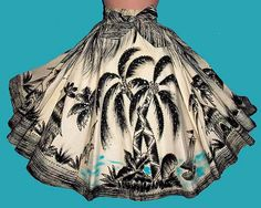 1950s hand painted Mexican skirt  - Courtesy of thespectrum