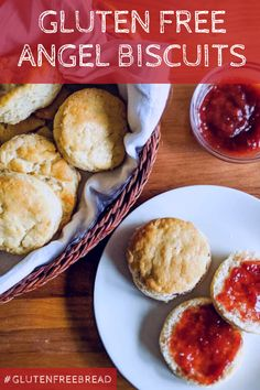 These gluten free angel biscuits are perfect for hungry tummies! So tender and with an amazing texture. they're quick to make and they'll quickly become a favorite! Gluten Free Quick Bread, Gluten Free Rolls, Gluten Free Snacks, Gluten Free Baking, Gluten Free Recipes, Bread Recipes, Yeast Biscuits, Angel Biscuits, Gluten Free Biscuits