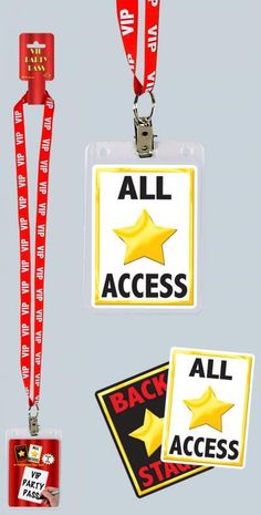 "Show everyone you are a true VIP with their very own party VIP pass! Package includes one VIP Party Pass that has a red plastic neck cord with white lettering that spells out """"VIP"""". Hollywood Party, Hollywood Birthday Parties, 13th Birthday Parties, Hollywood Crafts, Hollywood Decorations, Summer Birthday, 10th Birthday, Movie Theater Party, Movie Night Party"