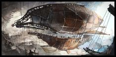 Pirates airship by ~Min-Nguen on deviantART
