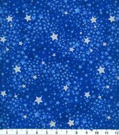 Keepsake Calico™ Cotton Fabric-Tonal Swirled Stars Navy
