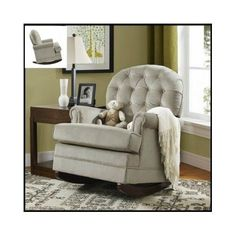 Nursery-Glider-Chair-Baby-Furniture-Rocking-Rocker-Nursing-Couch-Upholstered-Arm