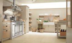 Aesthetic Italian Kitchen Design: Retro Gas Stove Design ~ Kitchen Inspiration