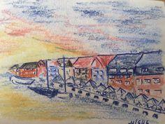 Coucher de soleil sur Nyhaven