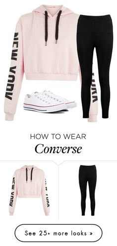 """""""Untitled #2683"""" by laurenatria11 on Polyvore featuring Boohoo and Converse"""