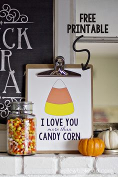 I Love You More Than Candy Corn Printable - Transfer to graph paper and embroidery or cross stitch!