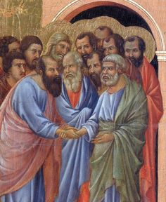 The arrival of the apostles to the Virgin (Fragment) by @artbuoninsegna #protorenaissance