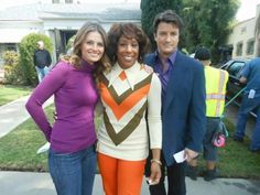 #bts #castle 70s episode ... finally Stana and Nathan in one picture again ;)