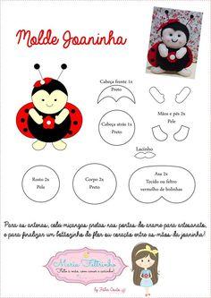 molde Paper Piecing Patterns, Felt Patterns, Applique Patterns, Craft Patterns, Ladybug Felt, Felt Quiet Books, Felt Decorations, Creation Couture, Baby Kind