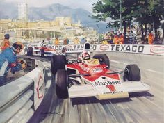 Michael Turner (b.1934) —  1975 Ferraris First Monaco Win for Twenty Years (1024×772)