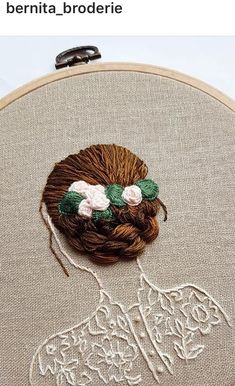 Flowing Hair Beneath The Stars - Hand Embroidery, Hoop Art, Contemporary Embroidered Hoop Wall Art, Modern Embroidery Hand Embroidery Videos, Embroidery Materials, Hand Embroidery Stitches, Modern Embroidery, Embroidery Hoop Art, Crewel Embroidery, Hand Embroidery Designs, Ribbon Embroidery, Cross Stitch Embroidery